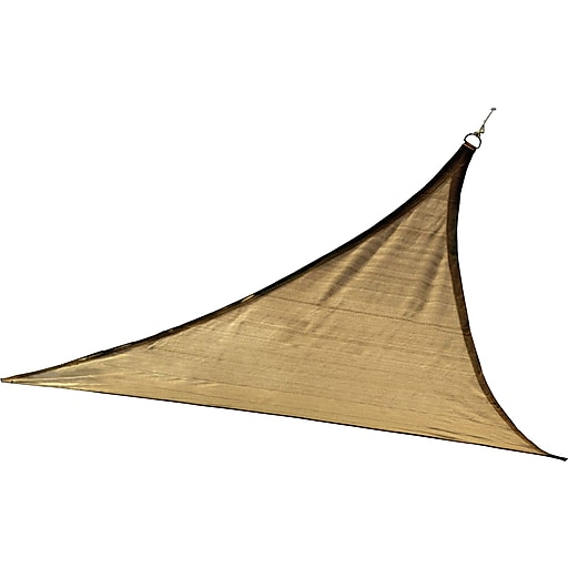 ShelterLogic 12' Triangle Shade Sail - 230 gsm, Sand