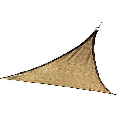 ShelterLogic 16' Triangle Shade Sail - 230 gsm, Sand