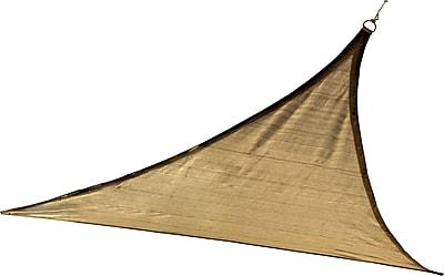 ShelterLogic 16' Triangle Shade Sail - 230 gsm, Sand