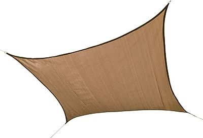 ShelterLogic 12' Square Shade Sail - 230 gsm, Sand