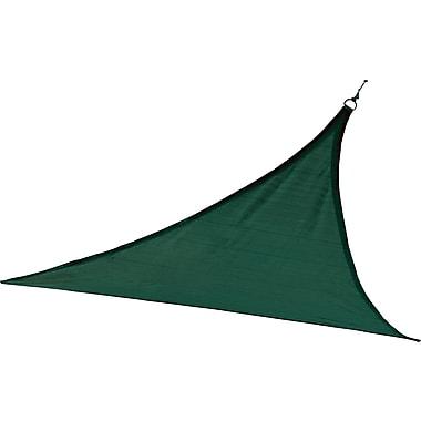 ShelterLogic 12' Triangle Shade Sail - 230 gsm, Evergreen