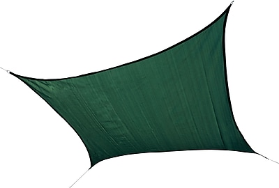 ShelterLogic 12' Square Shade Sail - 230 gsm, Evergreen
