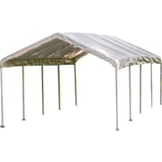 "ShelterLogic 12' × 26' Canopy, 2"" 10-Leg Frame, White Cover"