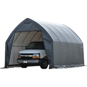 "ShelterLogic 13' × 20' × 12' SUV/Truck Shelter, 1 5/8"" 6-Rib Frame, Gray Cover"