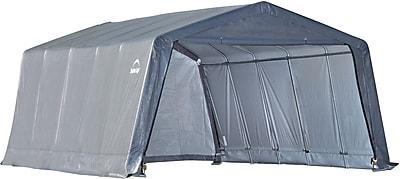 """""ShelterLogic 12' × 20' × 8' Peak Style Shelter, 1 3/8"""""""" 6-Rib Frame, Gray Cover"""""" 48060"