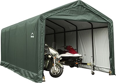 ShelterLogic 12' x 30' x 11' ShelterTube™ Storage Shelter, Green Cover