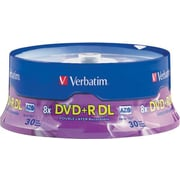 Verbatim Azo DVD+R DL Spindle, 8.5GB, 240-Minute, 30/Pk