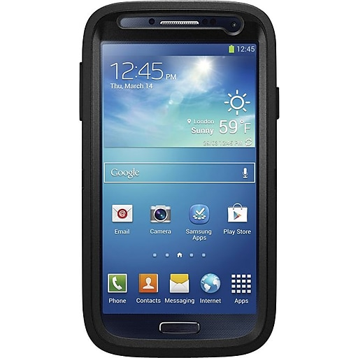 release date: 28dd3 7a4a7 OtterBox Defender Series Black Rugged Case for Samsung Galaxy S4 (77-27434)