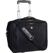 "Swiss Gear 17.3"" Rolling Business Traveler Laptop Bag with Tablet Pocket, Black"
