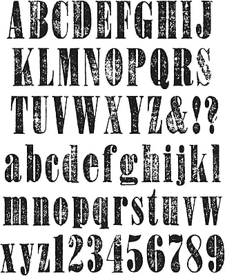 Stampers Anonymous Tim Holtz Large Cling Rubber Stamp Set, Worn Text (CMS-LG-156)