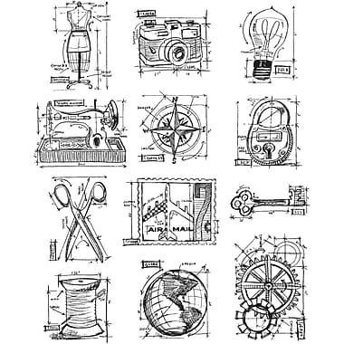 Stampers Anonymous Tim Holtz Large Cling Rubber Stamp Sets