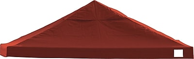ShelterLogic 12' x 12' Straight Leg Pop-up Canopy with Black Roller Bag, Red Cover