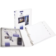 Avery Protect and Store 1-Inch Slant D 3-Ring View Binder, White (23000)