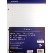"Ampad® Evidence® Dual-Pad® Notepad 8-1/2"" x 11-3/4"", Legal Ruled, White, 100 Sheets/PK (20-244)"