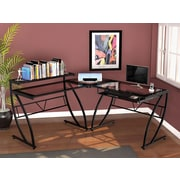"Z-Line Designs Feliz Glass ""L"" Desk, Black Clear"