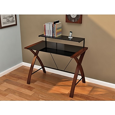 Z-Line Designs Florentina Real Wood Veneer Main Desk, Cherry