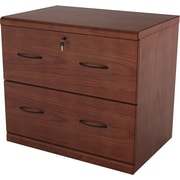 "Z-Line Designs 28 1/4"" Wood Lateral File Cabinet, 2-Drawer, Cherry"