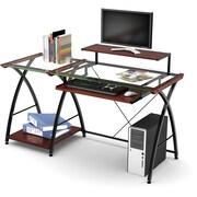 Z-Line Designs Brisa Glass Computer Desk, Clear Top