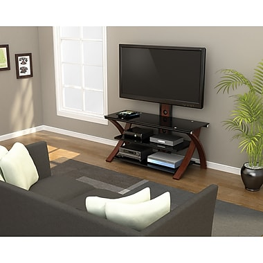 Z-Line Designs Makena 3-in-1 TV Stand, Black