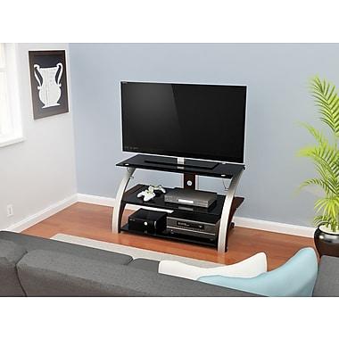 Z-Line Designs Elecktra TV Stand, Black Glass Cherry