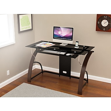 Z-Line Designs Claremont Glass Desk, Espresso (ZL810-01DU)