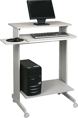 """""Buddy Products Stand-Up Height Workstation, Gray, 44 1/4""""""""H x 29 1/2""""""""W x 19 5/8""""""""D"""""" 440667"