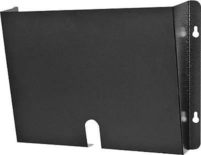 Buddy Products Deep Dr. Pocket ® Steel Wall Pocket For Medical Records, Black, 9 3/8