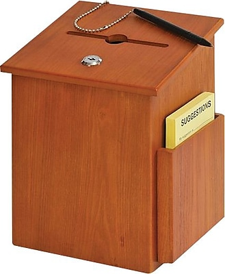 Buddy Products Y562211 Suggestion Box, Medium Oak