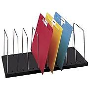 "Buddy Products Wire Organizer, 8-Section, Black, 7 3/4""H x 18 1/2""W x 8""D"