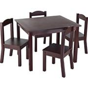 Tot Tutors Children Table & 4 Chairs, Espresso Colour