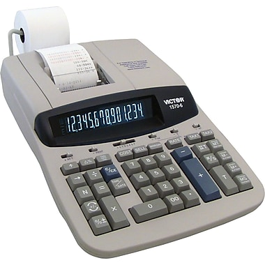 VICTOR 1570-6 2-Color Commercial Ribbon Printing Calculator, 14-Digit Display
