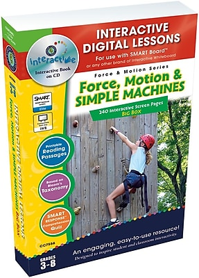 Classroom Complete Press® IWB Force, Motion and Simple Machines Big Box Book, Grades 3rd - 8th