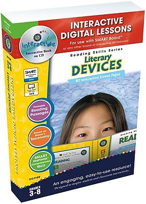 Classroom Complete Press® IWB Literacy Devices Book, Grades 3rd - 8th