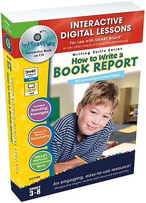 Classroom Complete Press® IWB How to Write a Book Report, Grades 3rd - 8th