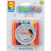 Alex Toys® Assorted Draw In The Tub Crayons, 6/Pack (ALE639R)
