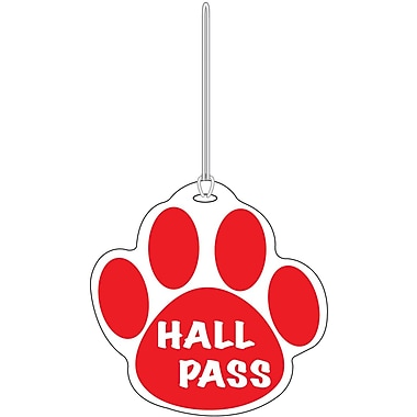 Ashley® Paw Hall Pass, Red