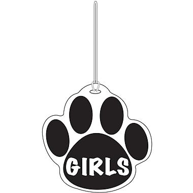 Ashley® Girls Paw Hall Pass, Black