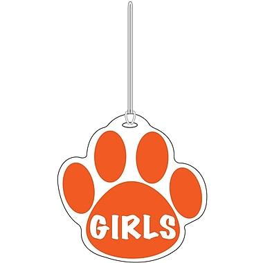 Ashley® Girls Paw Hall Pass, Orange