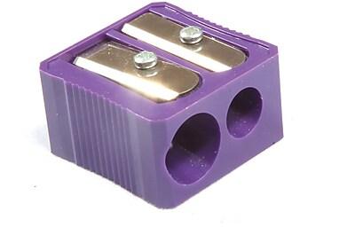 Baumgartens® Dual Hole Plastic Pencil Sharpener, Purple