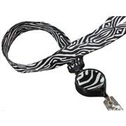 Bonitas International Zebra Retractable Ribbon Lanyard