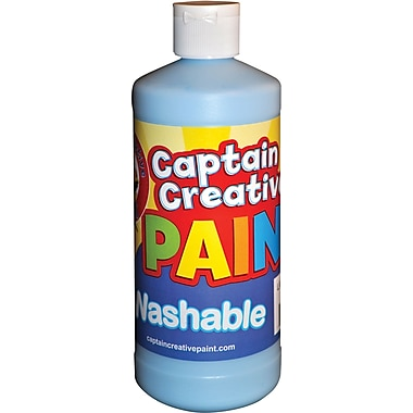 Captain Creative™ 16 oz. Washable Paint, Light Blue (CCR901116)