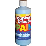 Captain Creative Non-toxic 16 oz. Washable Paint, Light Blue (CCR901116)