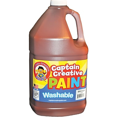 Captain Creative Non-Toxic 128 oz. Washable Paint, Brown (CCR9015G)
