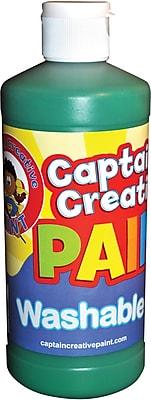Captain Creative Washable Paint™, Green, 16 oz.