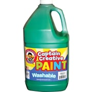 Captain Creative Non-toxic 128 oz. Washable Paint, Green (CCR9020G)