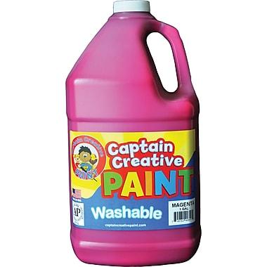 Captain Creative Non-Toxic 128 oz. Washable Paint, Magenta (CCR9035G)