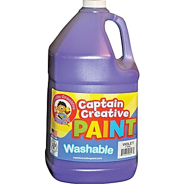 Captain Creative Non-Toxic 128 oz. Washable Paint, Violet (CCR9055G)