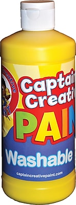 Captain Creative Washable Paint™, Yellow, 16 oz.