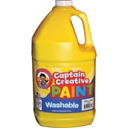 Captain Creative Non-toxic 128 oz. Washable Paint, Yellow (CCR9065G)