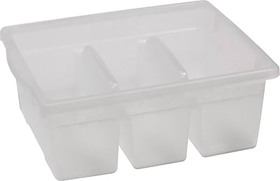 Copernicus Educational Products Leveled Reading Large Divided Book Tubs, Clear